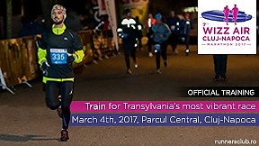 Crosul de noapte | Antrenament oficial 7.Wizz Air Cluj-Napoca Marathon ~ 2017